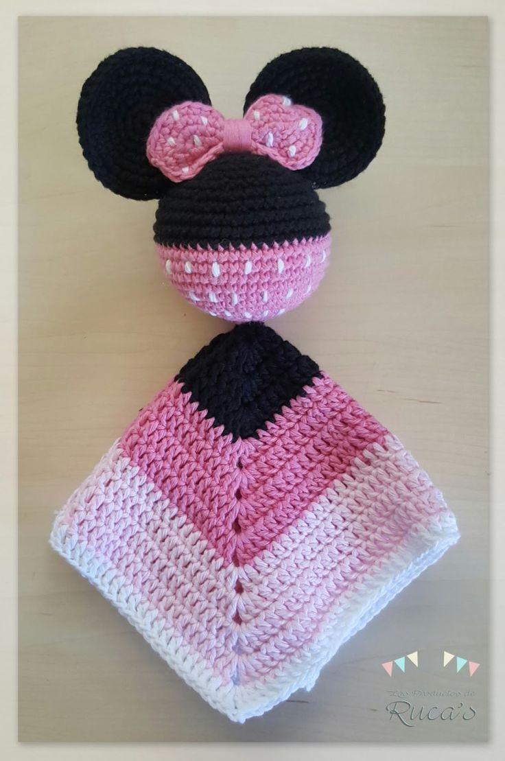 Patrón Mantita de Apego Mickey - Minnie Mouse