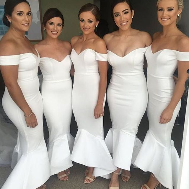 Long Bridesmaid Dresses 2016 Mermaid Cap Sleeve Sweetheart                                                                                                                                                                                 Mais
