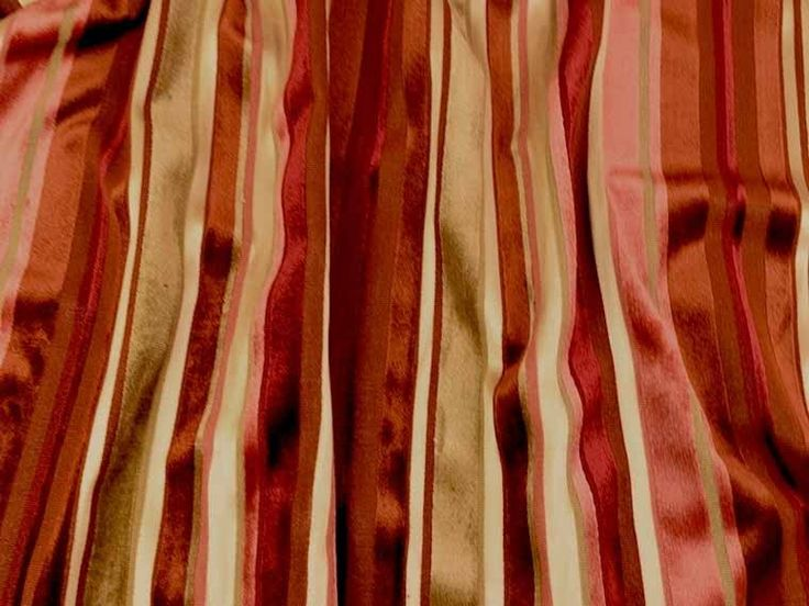 GP & J Baker Mala Stripe Velvet Fabric - Curtain and Upholstery - The Millshop Online #fabric