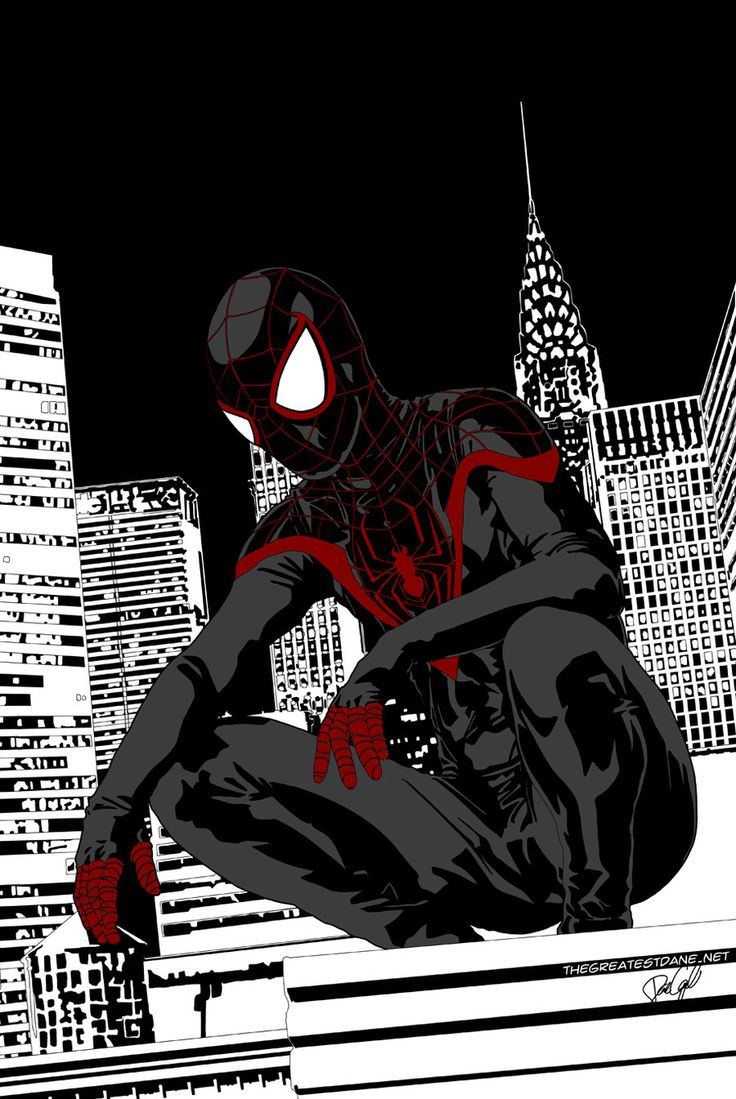 Ultimate Spider-Man by ~danecypel on deviantART...VERY interesting spidey suit...love the fingers.