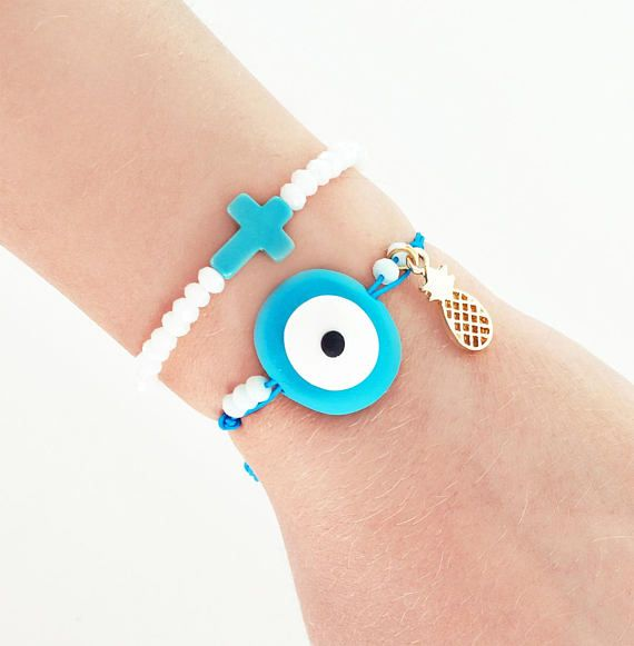 greek jewelry evil eye bracelet evil eye jewelry pineapple