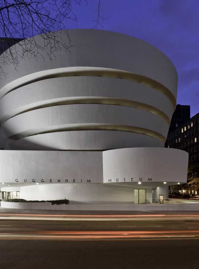 The Solomon R. Guggenheim museum is in Upper Eastwood side in New York . It is modern art museum .