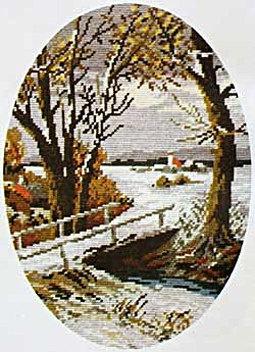 Winter Scene Wiehler gobelin tapestry needlepoint by Dekoidea, $620.00
