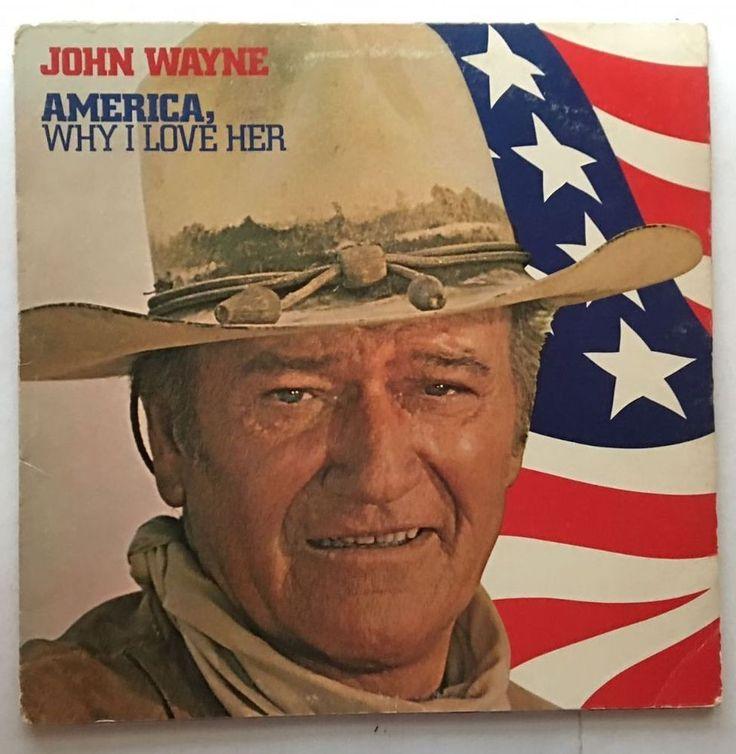 JOHN WAYNE AMERICA WHY I LOVE HER 1973 RCA RECORDS VINYL FREE SHIPPING LP