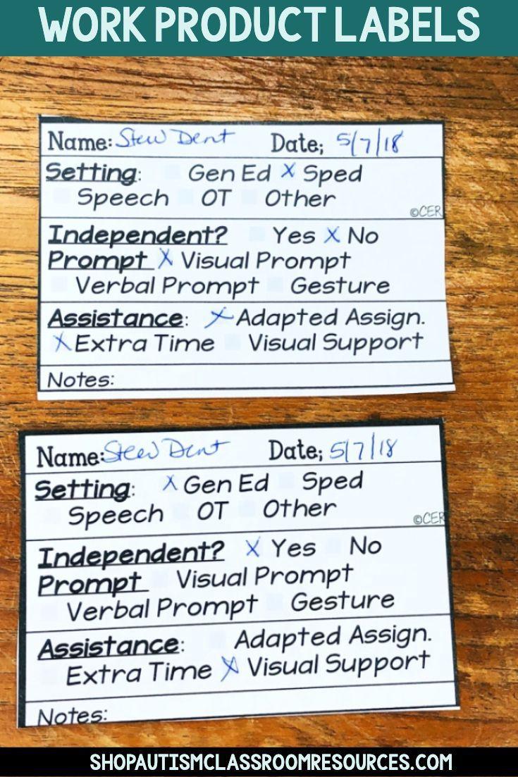 Progress Monitoring Data Life Skills Curriculum Special Education Classroom High School Special Education Classroom