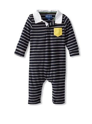 54% OFF Andy & Evan Baby Andy Land Romper (Medium blue)