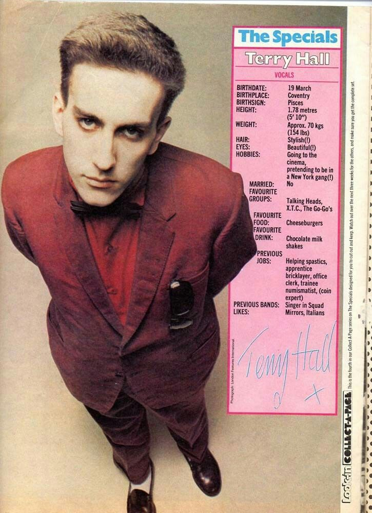 Happy birthday, Terry Hall! Frontman with The Specials and 2Tone Ska Royalty, born on this day in 1959.
