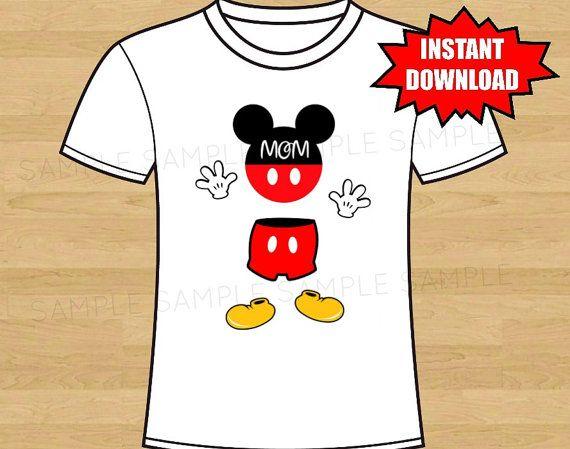 Mickey Mouse Iron On Birthday Shirt Transfer by DigitalDesigns2014