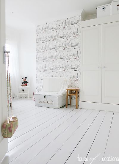 floorboards painted white in this lovely location house for photo shoots and film