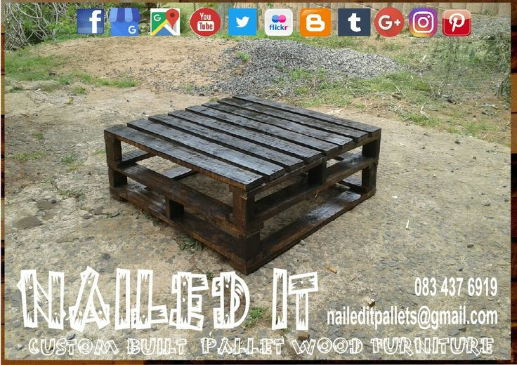 Custom built pallet wood coffee table. Perfect for the Patio & outdoor use #naileditcustombuiltpalletfurniture #palletwoodfurnituredurban #palletfurniture #palletfurnituredurban #palletfurnitures #custompalletfurnituredurban #custompalletfurniture #palletbench #outdoorfurniture #outdoorpalletfurniture #palletcoffeetable