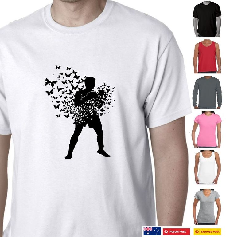 Funny T-Shirts Muhammad Ali Float like a butterfly stings like a bee cool Tee's