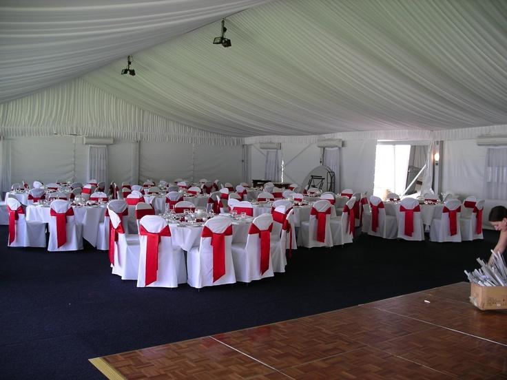 #marquee #redchairsash #weddingreception