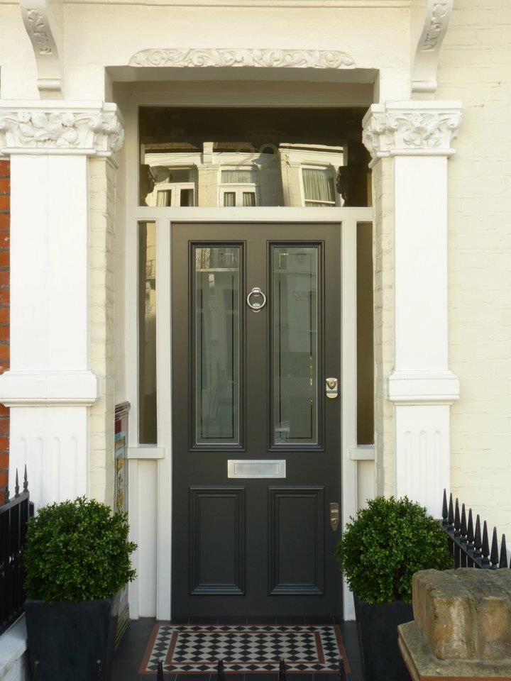 The London Door Company 'Dark Grey' paint colour - Satin