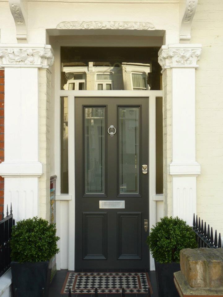 The London Door Company 'Dark Grey' paint colour - Satin