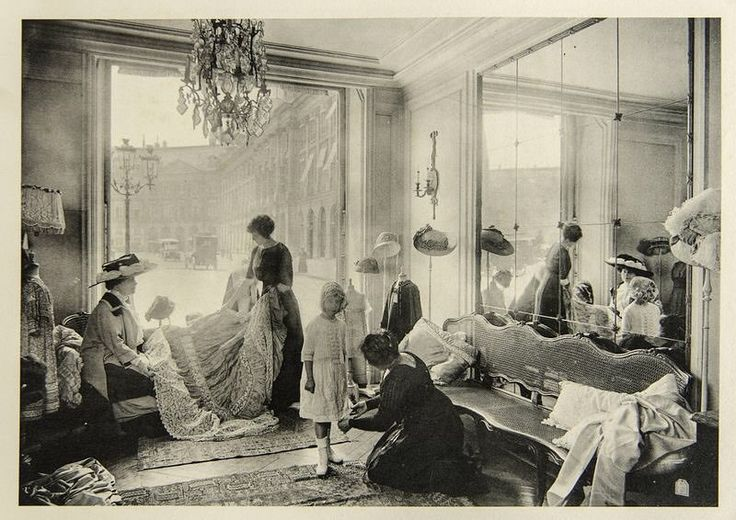 "3,015 Likes, 7 Comments - The Corseted Beauty (@the_corsetedbeauty) on Instagram: ""Salon at Maison Chéruit, photograph from Les Créateurs de mode, 1910. ❤️ Founded by Louise Chéruit,…"""