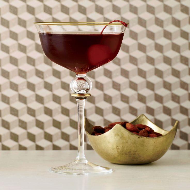 corpse reviver #1  1 ounce Armagnac 1 ounce Calvados 1 ounce Carpano Antica Formula or other sweet vermouth 1 maraschino cherry, for garnish