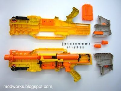 I had a nerf gun just like this one but i never took it apart id never be able to put it back together.