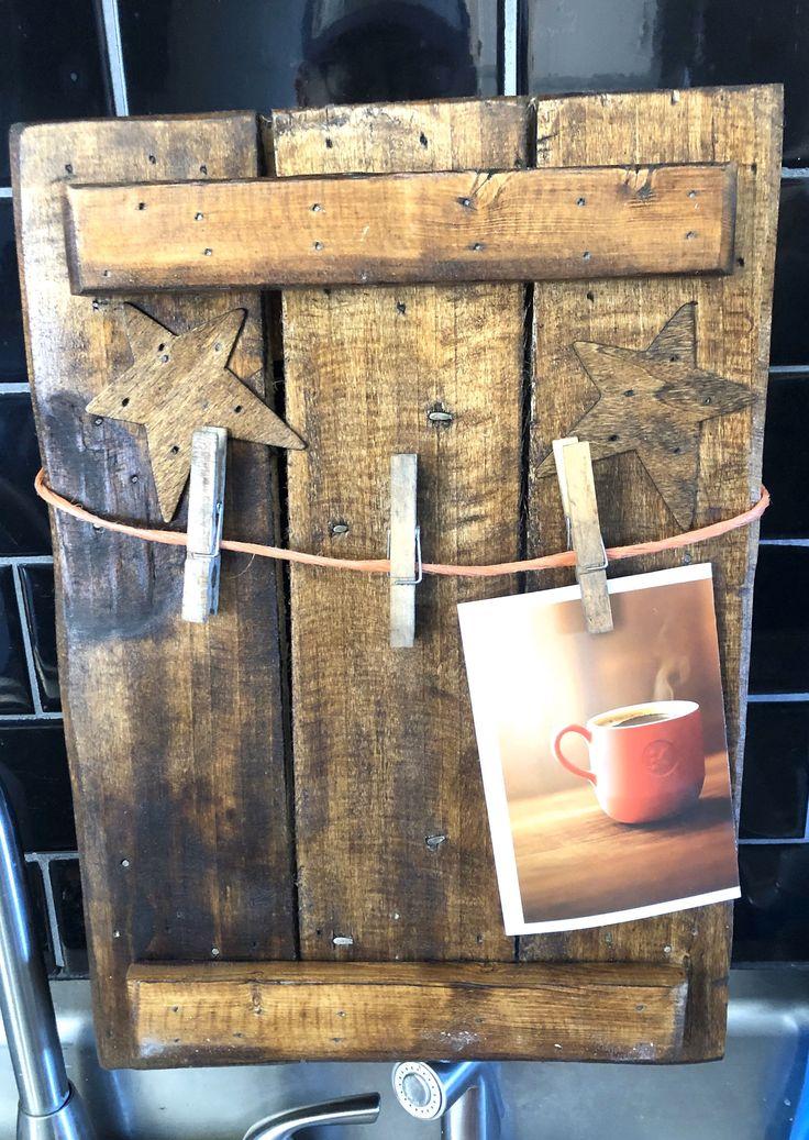 Wooden Picture Frame/Holder Note/Letter Holder in 2020