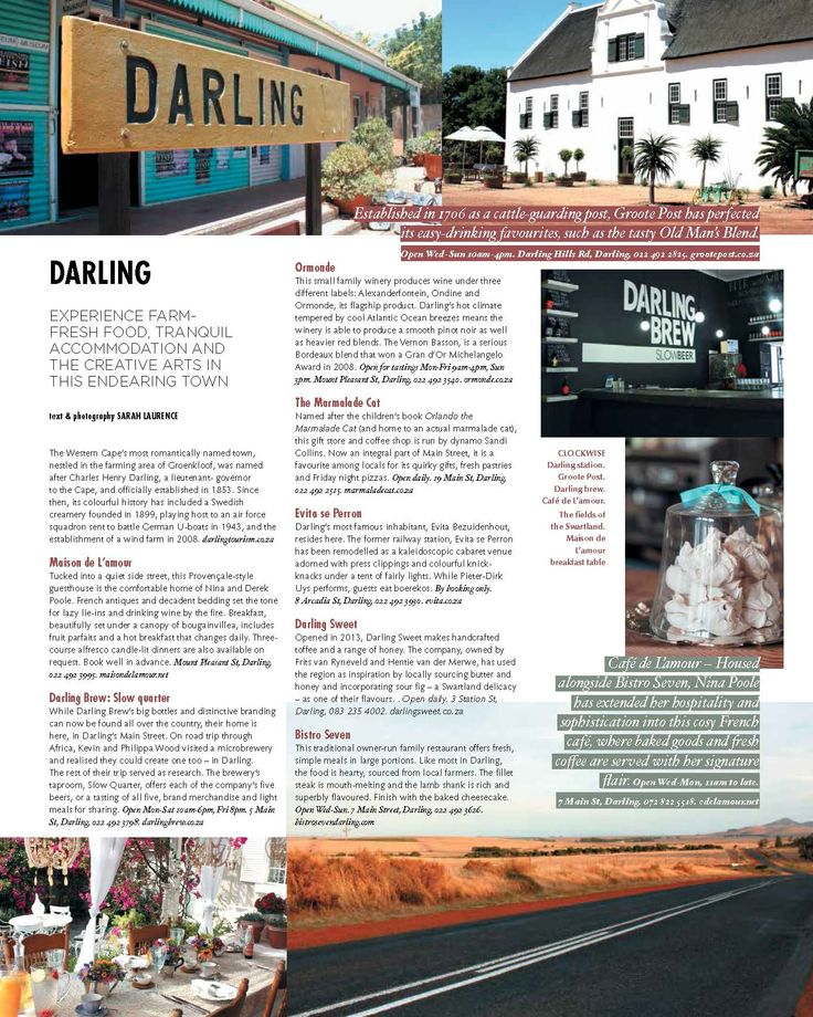Darling Town Guide - Sarah Evelyn