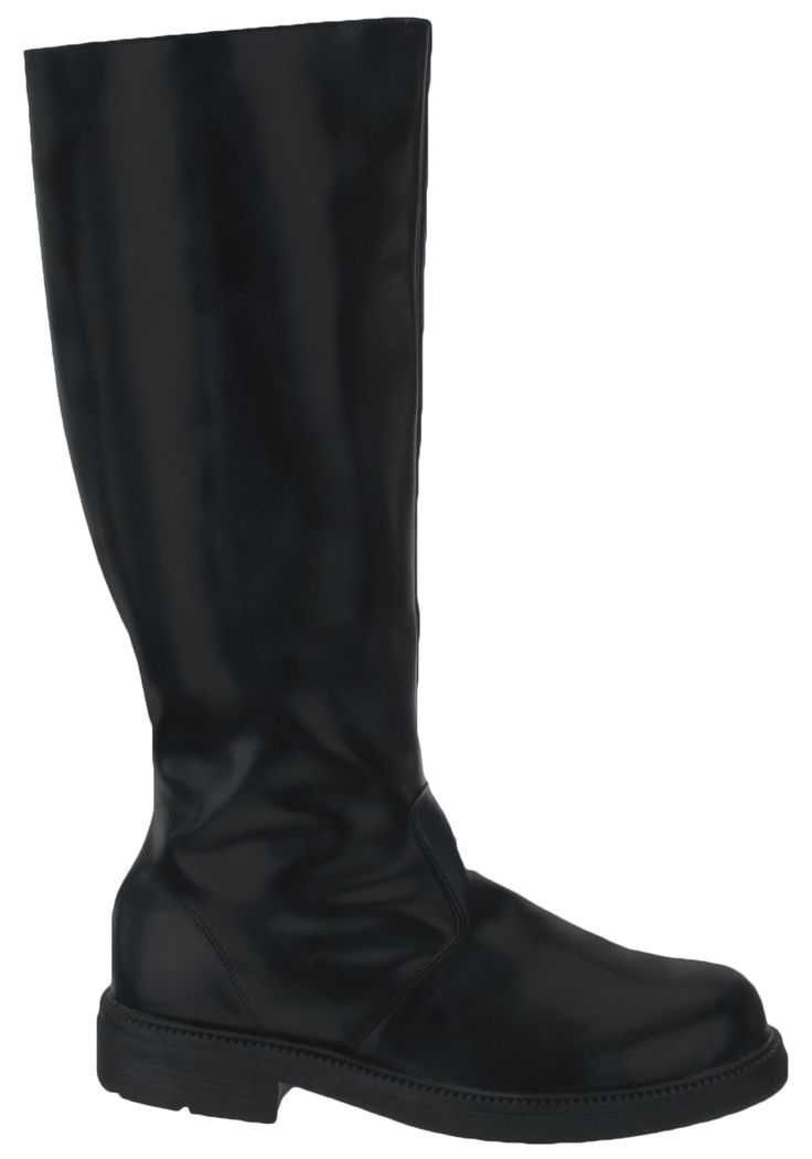 Adult Deluxe Black Boots - many uses; can add toppers for Pirates of Caribbean 'Wellington' boots