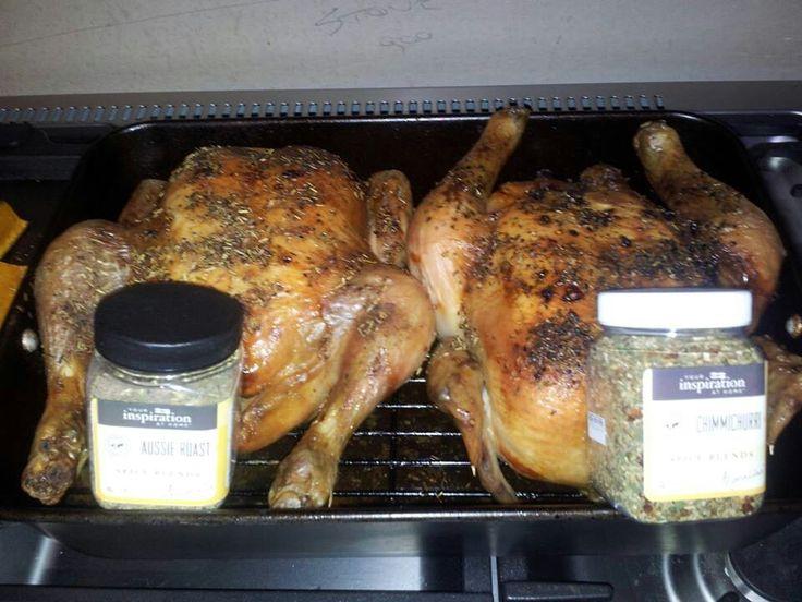 Roast chickens