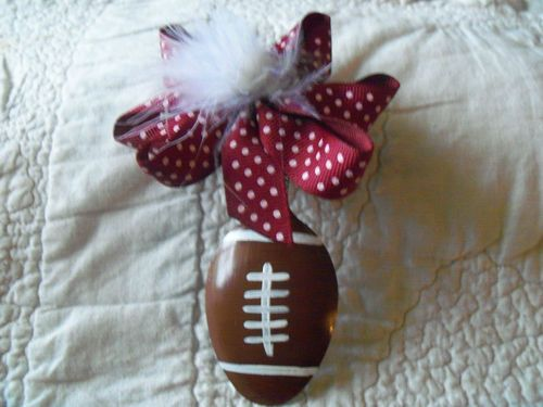 Hand Painted Spoon Ornament Football