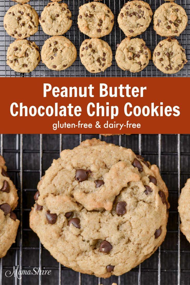 Glutenfreies Erdnussbutter-Schokoladenkeks (ohne Milchprodukte)