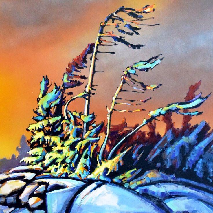 """Catching the wind"" by Jerzy Werbel, acrylic on canvas www.werbeland.ca"