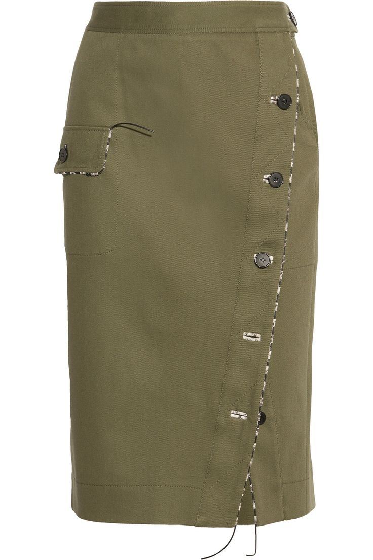 Altuzarra | Curry cotton-blend twill skirt | NET-A-PORTER.COM