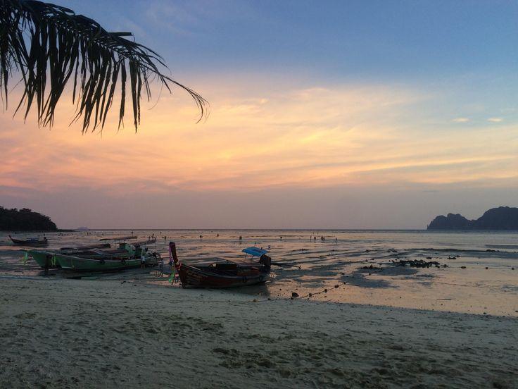 Sunset at Koh Phi Phi Thailand #travel #photography #nature #photo #vacation #photooftheday #adventure #landscape