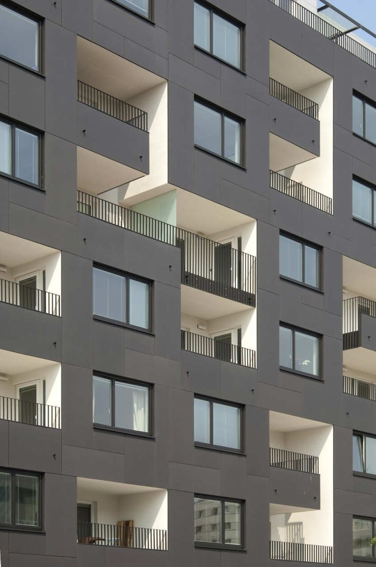 Anthracite Equitone Facade Panels White Loggia S