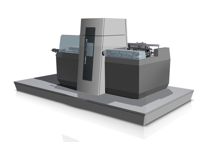 KAMA will launch a flat-bed die cutter for sheets up to 760 x 600 mm. It will be shown with a hot foil stamping system. Highlights: higher cutting pressure,  universal chase for dies of all sizes, good fit  with the Speedmaster XL 75. Applications: cutting, creasing, perforating, kiss-cutting & cold embossing, hot foil stamping, combined embossing and hot foil, and hologram stamping.  Source: www.kama.info