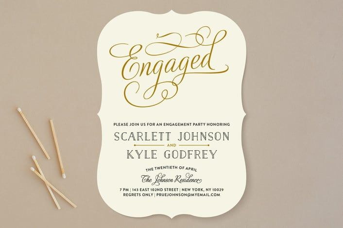 Minted S Chic Engagement Engagement Party Invitations Funny Engagement Party Invitations Engagement Party Invitation Wording Engagement Invitation Wording