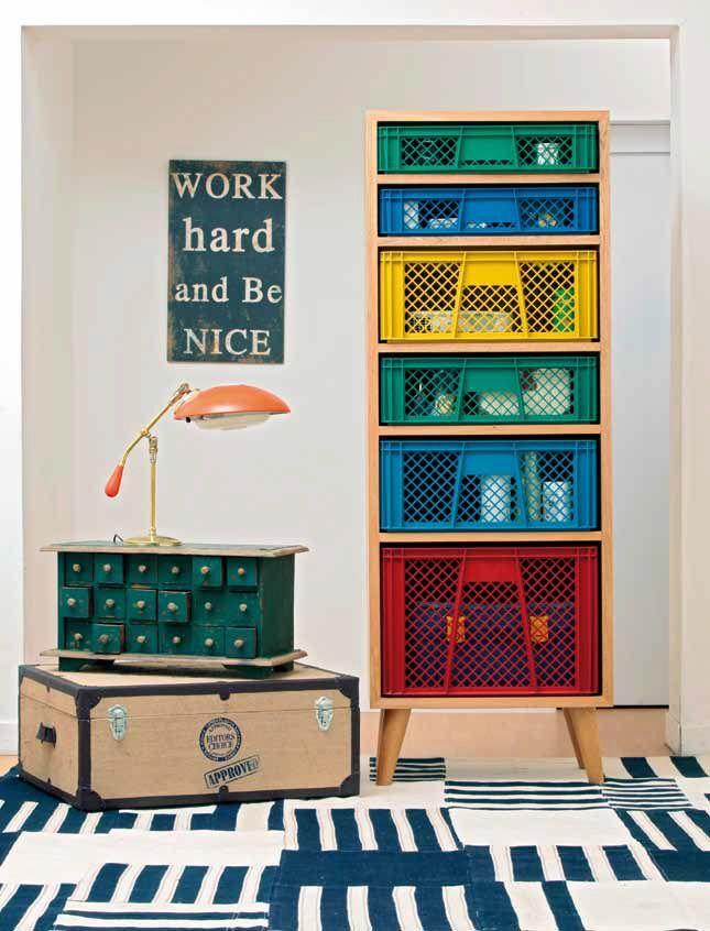 Orden con imaginación. La tarea de ordenar un espacio puede ser más divertida cuando los rincones son provocadores y coloridos.