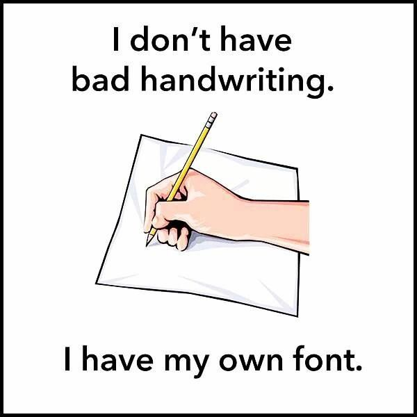Image result for lousy handwriting