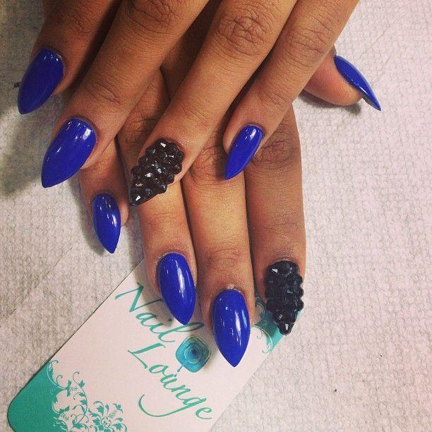 nail game, blue nails, black nail, nail art, pointy nails, holiday nails |  All things Beauty | Pinterest | Nails, Nail Art and Stiletto nails - Nail Game, Blue Nails, Black Nail, Nail Art, Pointy Nails, Holiday