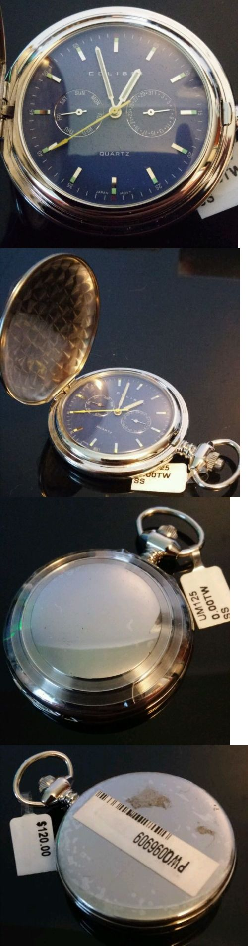 Modern 3938: New Colibri Pocket Watch With Day Date Subdials -> BUY IT NOW ONLY: $60 on eBay!