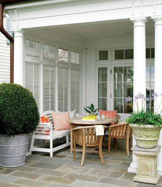 Like Those Outdoor Shutters For Privacy.