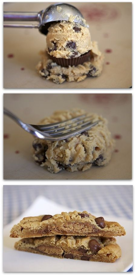 Stuffed Reese's Chocolate Chip Cookie | Cookies | Pinterest