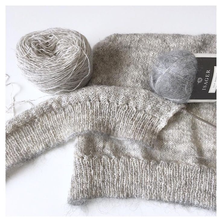 Bits and pieces : Second design from The Artisan : Ivory . . Knit in Spinni Tweed lace weight, colour: natural on grey with soft trim of silk moh - @minib