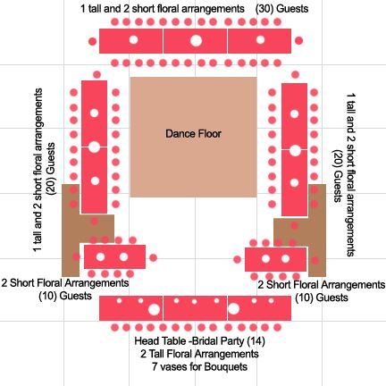 rectangle wedding table layout plan - Google Search. And another nightmare to think about