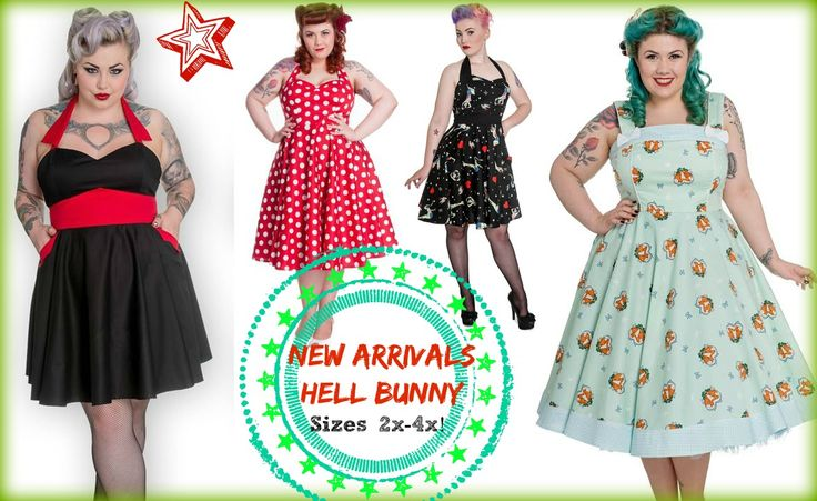 We got NEW Hell Bunny dresses in-stock.  Sizes 2x-4x.