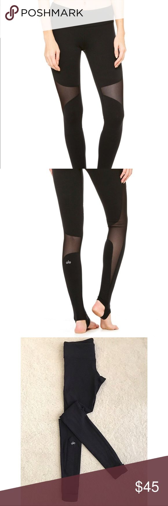 Alō Yoga Coast Legging Alō Yoga Coast Legging offers secure coverage with stirrup foot detail, smooth seams and contemporary mesh blocking at side of leg.   - Engineered to lift, sculpt, contour and smooth - 4-way-stretch fabric for a move-with-you feel - Moisture-wicking antimicrobial technology - Hidden key pocket  *Gently used • Non-smoking/Pet Free home ALO Yoga Pants Leggings
