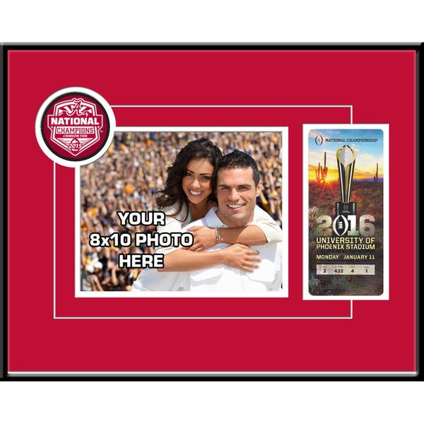 """Alabama Crimson Tide College Football Playoff 2015 National Champions 8"""" x 10"""" Your Photo Ticket Frame - $79.99"""