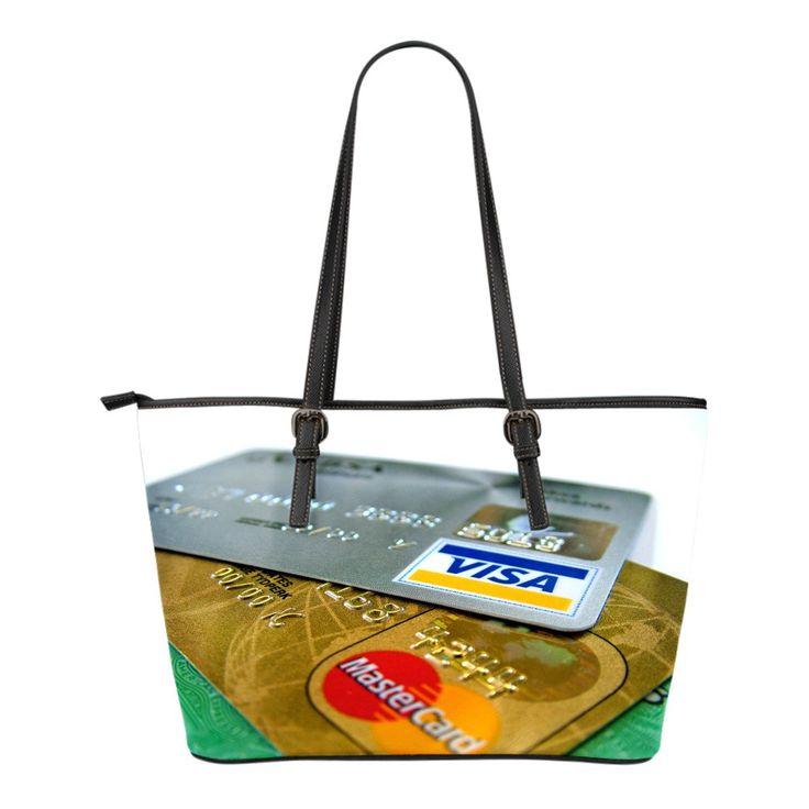 Petit sac Fourre-tout en cuir Cartes de crédit