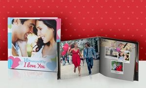 Customers upload photos to design their photo books, which are printed on silk paper and bound with a soft cover or image-wrapped hard cover