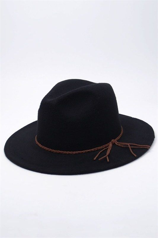 Best-seller women wool-felt fedora hat with a braided tassel. Brim approx. 2.5 inches --One size-- Free Shipping