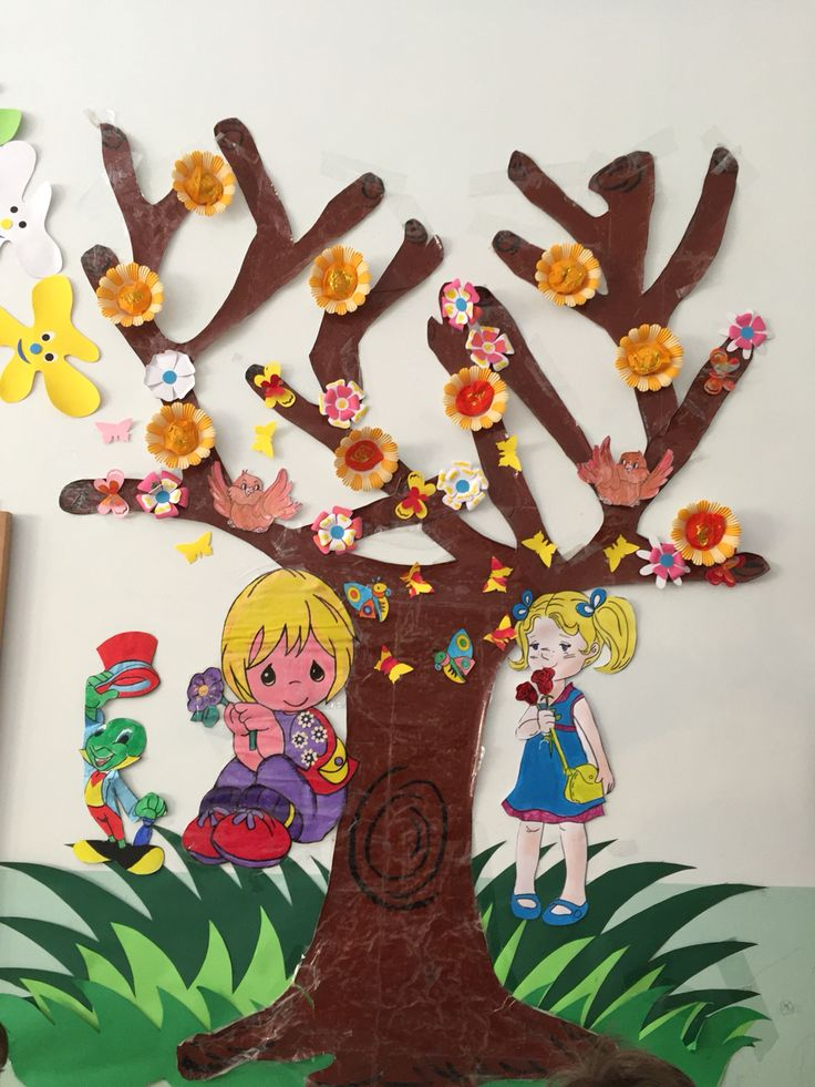 The tree in spring in my class. By Giusi Prestia