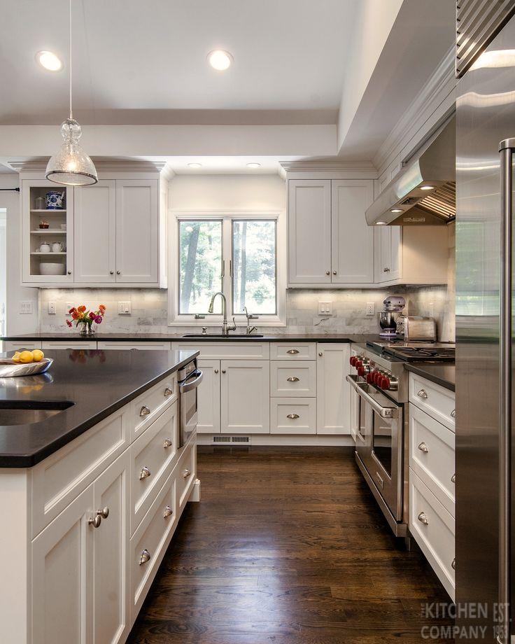 Woodbridge Kitchen Cabinets: Black And White Kitchen In Woodbridge, CT