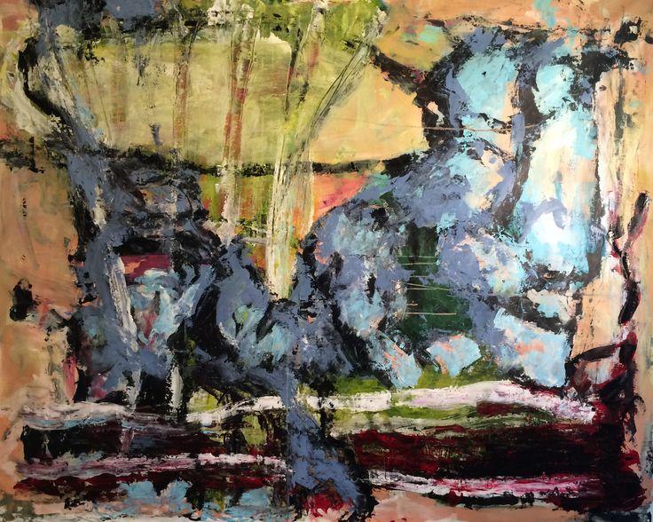 """Kell Jarner. """"Løve"""", aryl på lærred, 200 x 160 cm, 2015"""